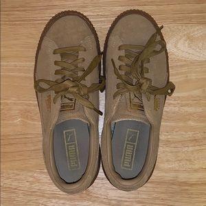 Puma Shoes - PUMA camel platform sneakers
